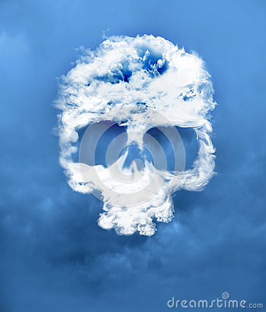 Skull from a cloud developed