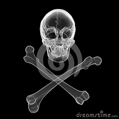 Skull and crossbones - a mark of the danger warning
