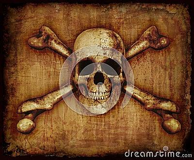Skull and Crossbones on Paerchment