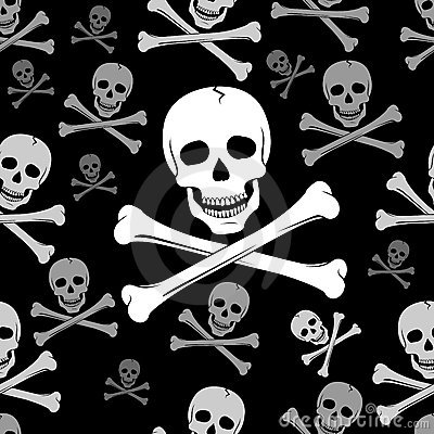 Skull And Crossbones Pattern