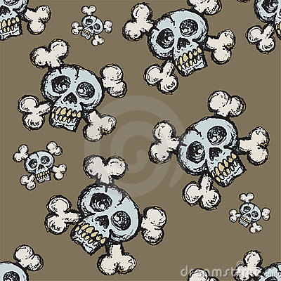 Skull and Crossbones Seamless Tile
