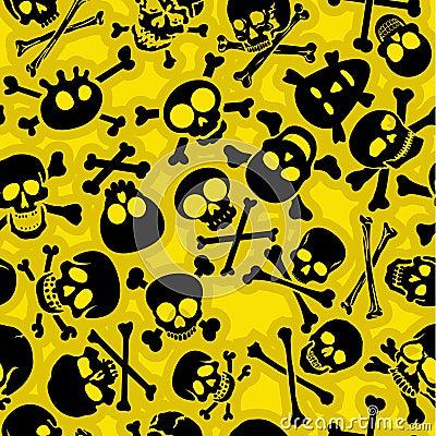 Skull & Crossbones Vectors Seamless Pattern