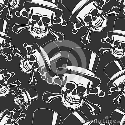 Skull in the cylinder seamless