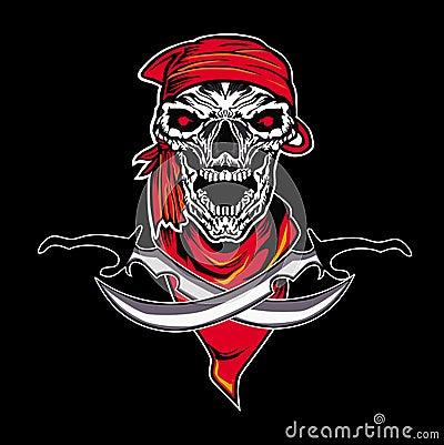 Skull dagger Cartoon Illustration
