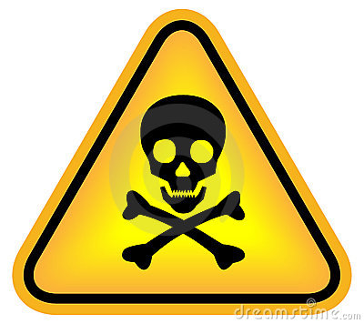 Free Skull Danger Sign Royalty Free Stock Photo - 16961015