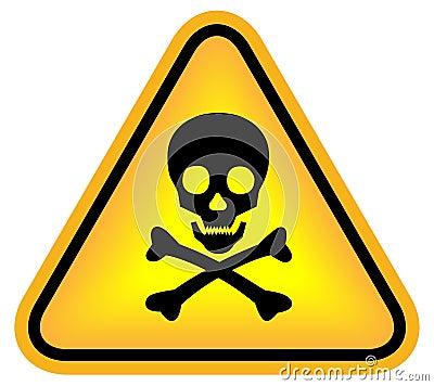 Skull danger sign