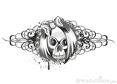 Skull emo with pattern