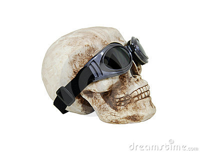 Skull with goggles