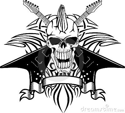 Skull With Guitars Royalty Free Stock Photo Image 22446005