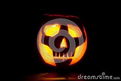 Skull Halloween pumpkin