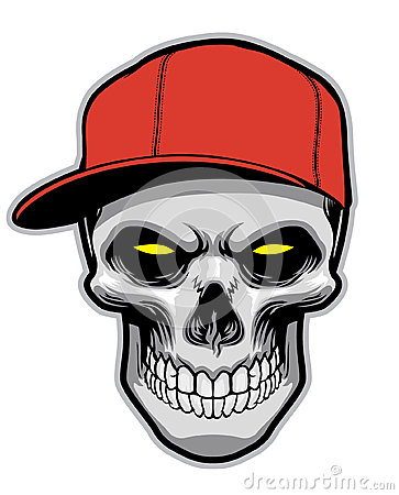 Skull Head Wearing A Hat Royalty Free Stock Images Image