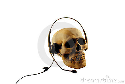 Skull and headset