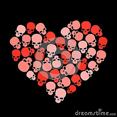 Skull heart for valentine's day