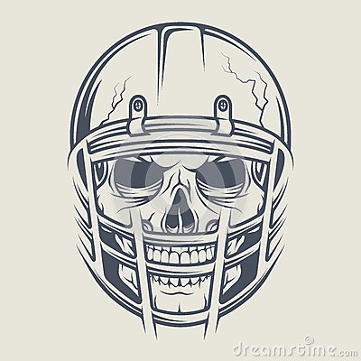 Skull Football Helmet football with a skull wearing a helmet stock ...