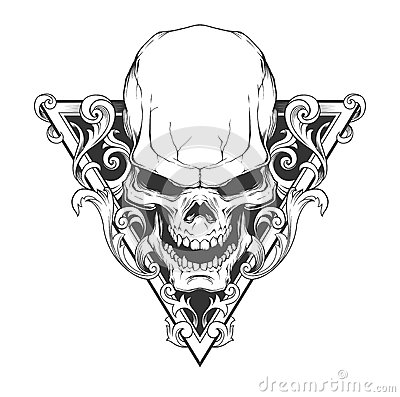 Free Skull Illustration Stock Photography - 54795502