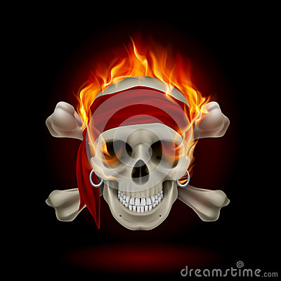 Free Skull In Flames Royalty Free Stock Images - 28246579