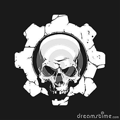Free Skull In Gear Stock Image - 73852861