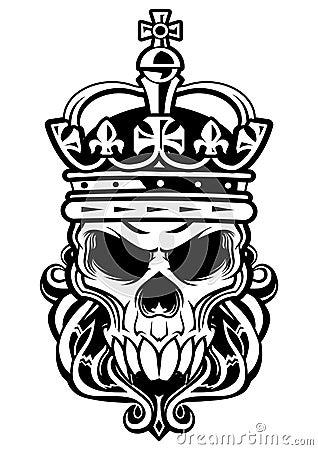 skull of king stock vector image 38783090