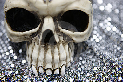 Skull with metallic bokeh