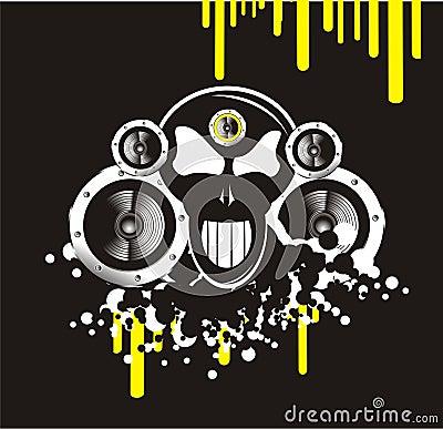 Skull music background