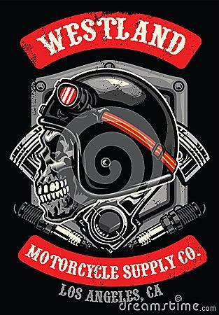 Free Skull Of Vintage Racer Royalty Free Stock Photo - 107050625