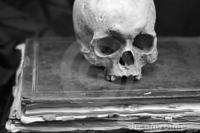 Skull on an old Book