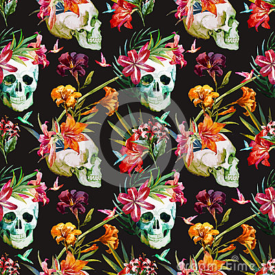 Free Skull Pattern Royalty Free Stock Photo - 53477075