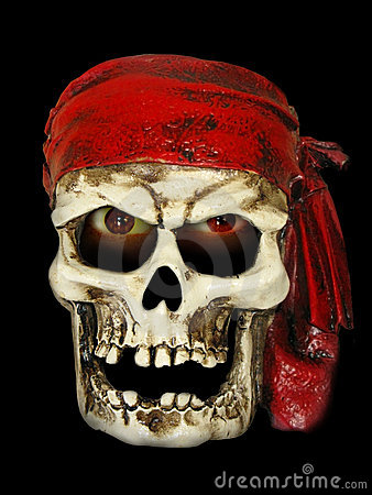 Free Skull Pirate Royalty Free Stock Photography - 5387807