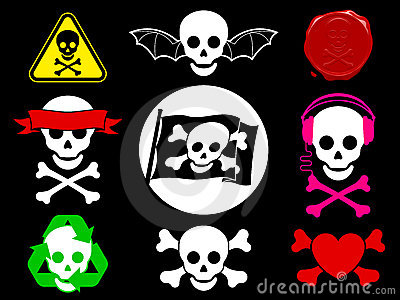 Skull pirate icon collection