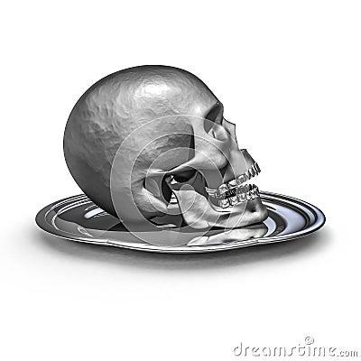 Skull platter metal