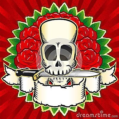 Skull roses color