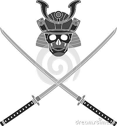 Skull of samurai