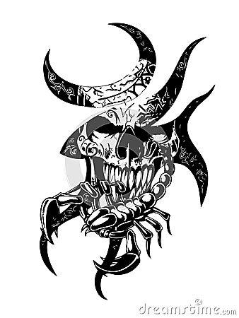 Skull Scorpion Stock Photos Image 4789673