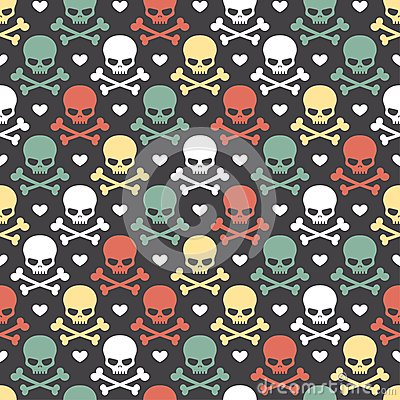 Free Skull Seamless Pattern Stock Images - 34372394