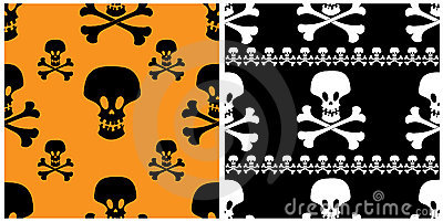 Skull seamless patterns.