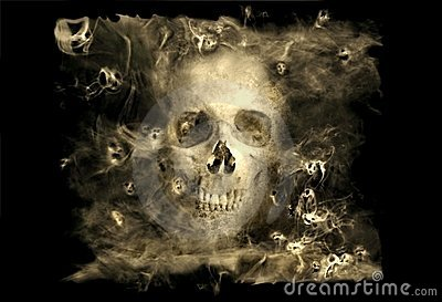 Skull With Smoke Demons