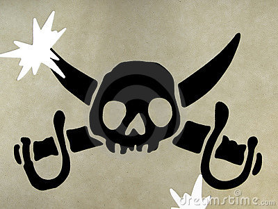 Skull symbol of pirates
