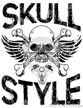 Skull T Shirt Graphic Design Stock Vector Image 88307970