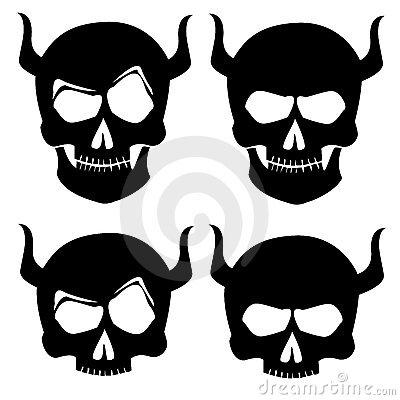 Free Skull Tattoo Silhoutte Stock Image - 5923591