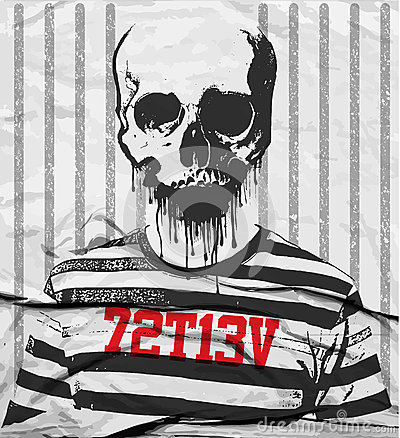 Free Skull Tee Graphic Design Royalty Free Stock Photography - 68686197