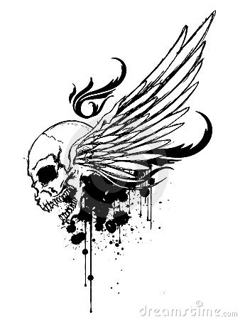 Skull with Wing