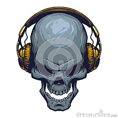 Free Skull With Headphones Stock Photos - 62931463
