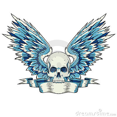 Free Skull With Wings Stock Photo - 14771800