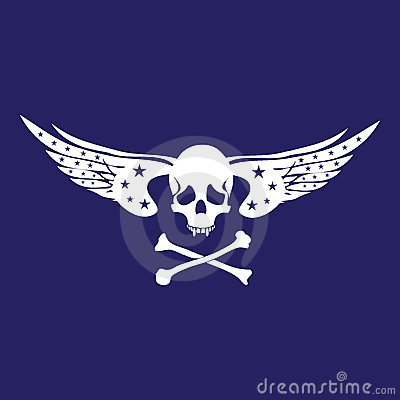 Free Skull With Wings Stock Image - 7784311