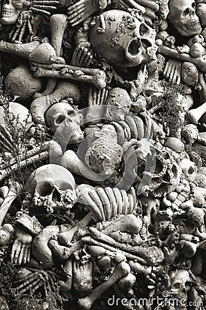 Skulls and bones for halloween