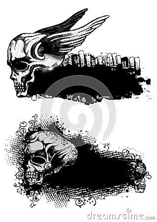 Skulls and emblems