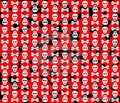 Skulls grunge background.