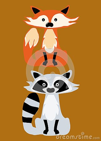 Free Skunk And Fox Vector Icons Royalty Free Stock Photography - 134298387