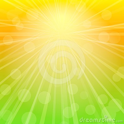 Sky Abstract Background with Rays of Sunshine.