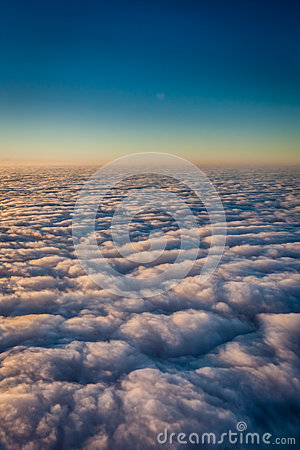 Free Sky And Dense Clouds From Above Royalty Free Stock Photos - 44408188